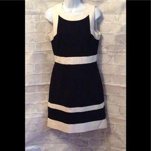 White House | Black Market Black/White Dress